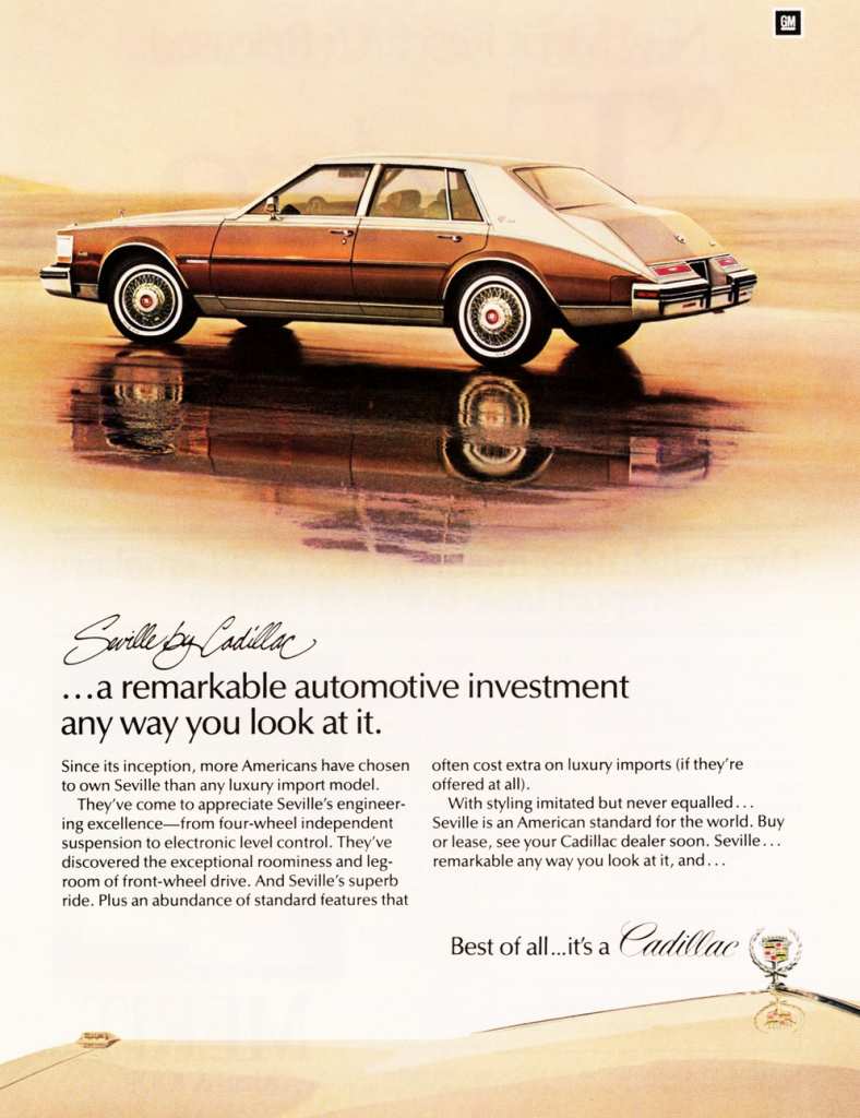 1982 Cadillac Seville Ad