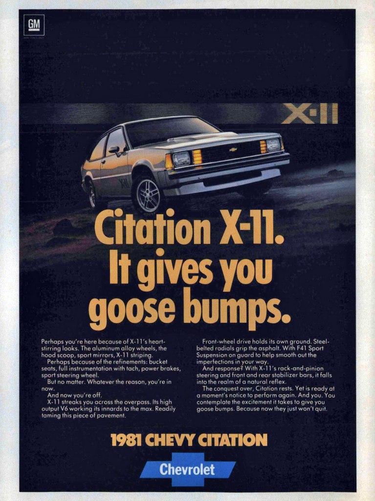 1981 Chevrolet Citation Ad