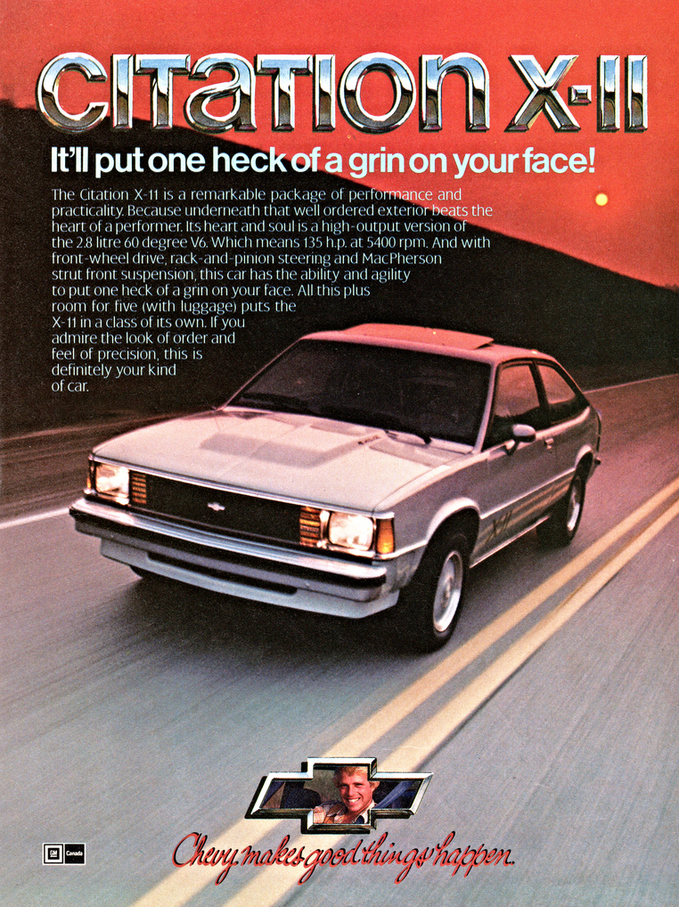 1982 Chevrolet Citation Ad