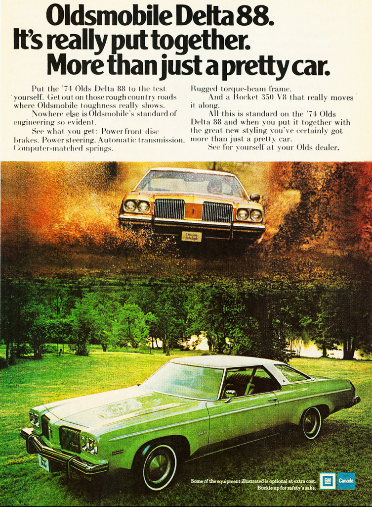 1974 Oldsmobile 88 Ad, Canadian