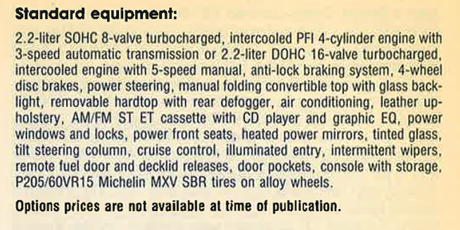 1990 Chrysler TC Review