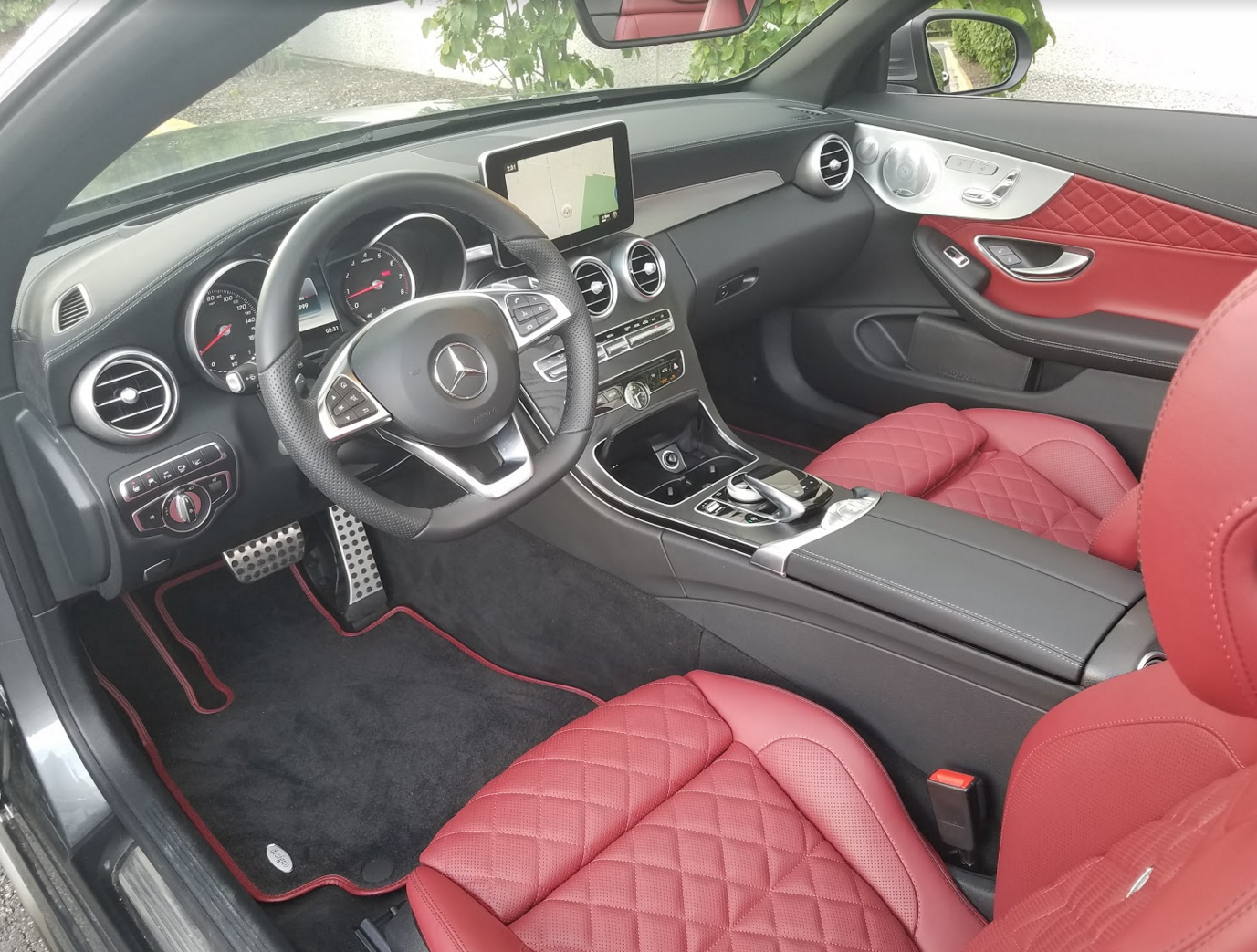 2017 mercedes benz c300 awd cabriolet the daily drive for Mercedes benz c300 red interior
