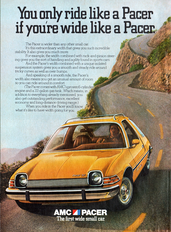 1975 AMC Pacer Ad, yellow