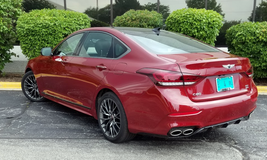 2018 Genesis G80 Sport in Sevilla Red
