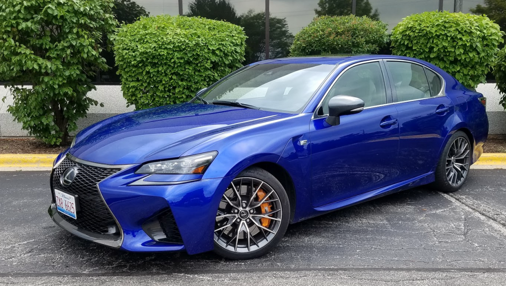 2017 Lexus GS F in Ultrasonic Blue Mica