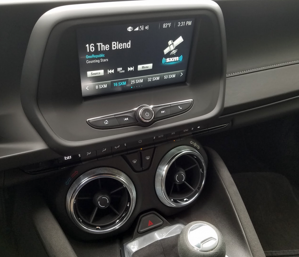 2017 Camaro Console Screen
