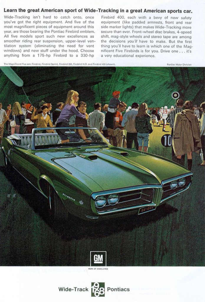 firebird 1968 pontiac ad cars classic ads green auto parts advertisement history truck drive fra lagret npdlink