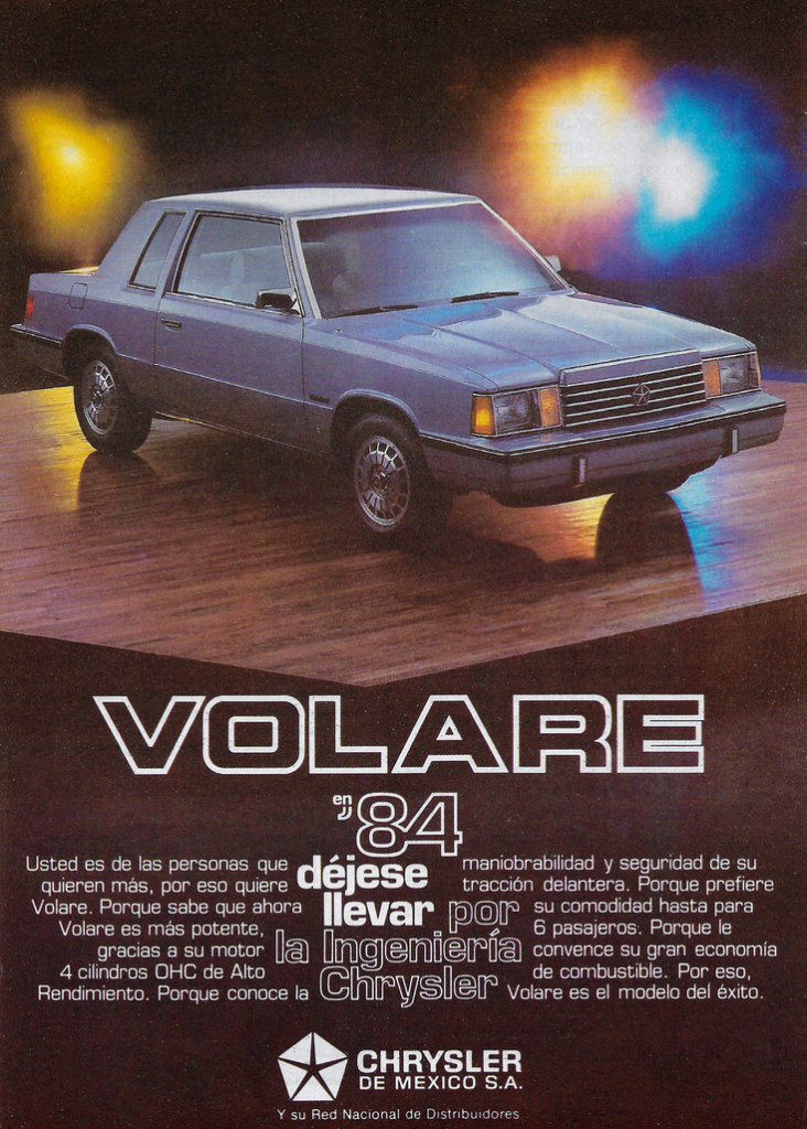 1984 Chrysler Volare Ad