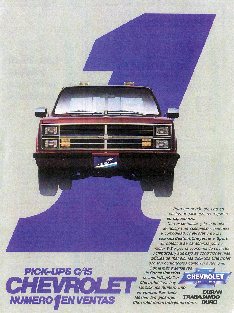 1984 Chevrolet Pickup Ad (Mexico)