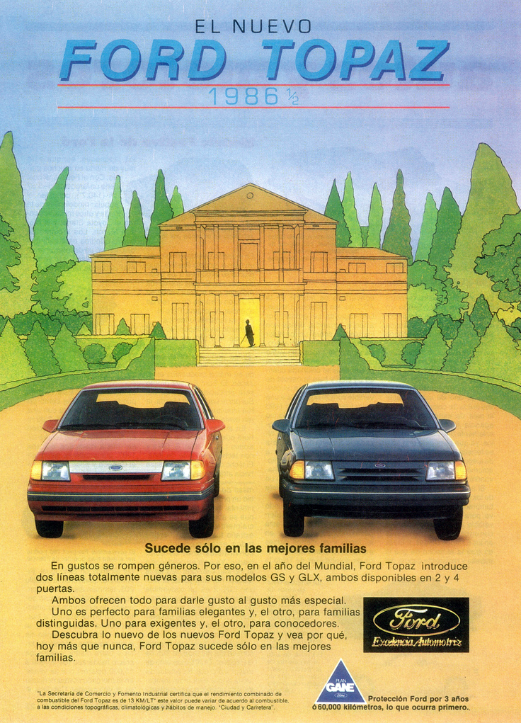 1986 Ford Topaz Ad