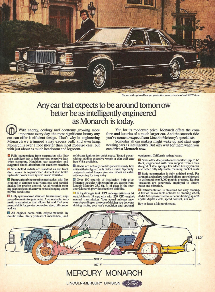 1977 Mercury Monarch Ad