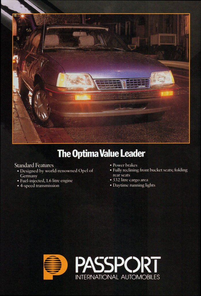 1986 Passport Optima Ad