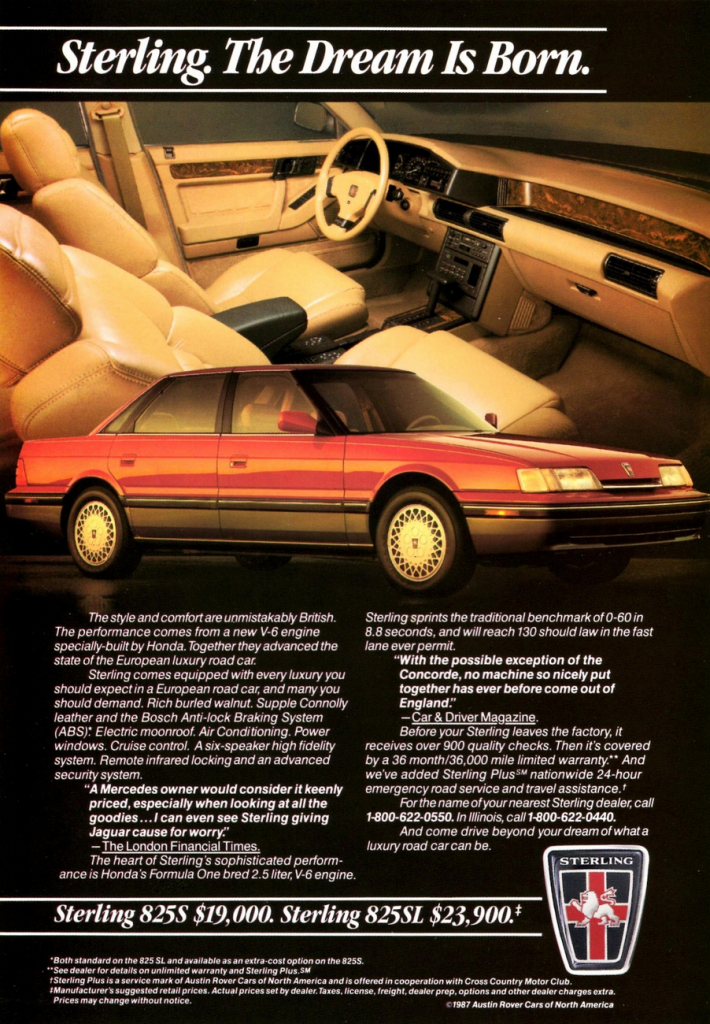 1987 Sterling 825i Ad