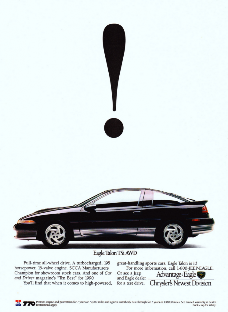 1990 Eagle Talon Ad
