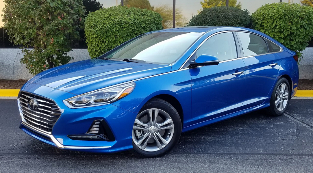 2018 Hyundai Sonata in Electric Blue
