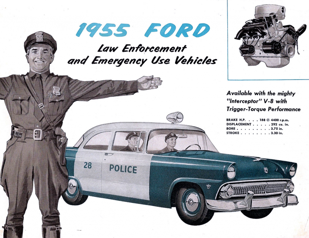 1955 Ford Police Vehicle Brochure