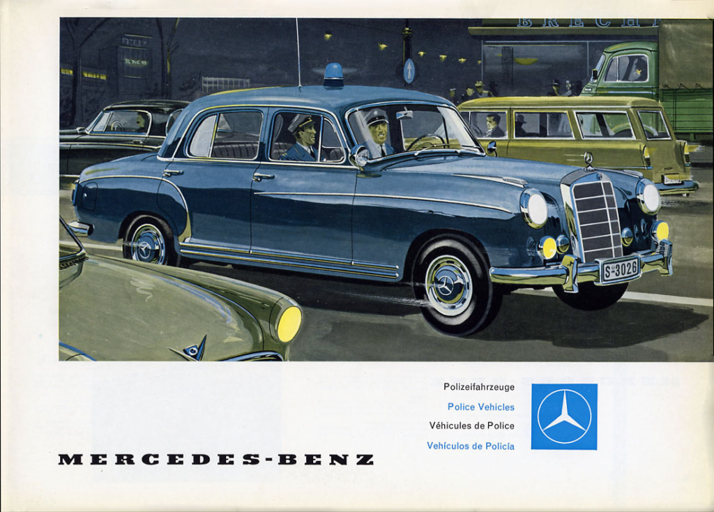 1956 Mercedes-Benz Police-Vehicle Brochure