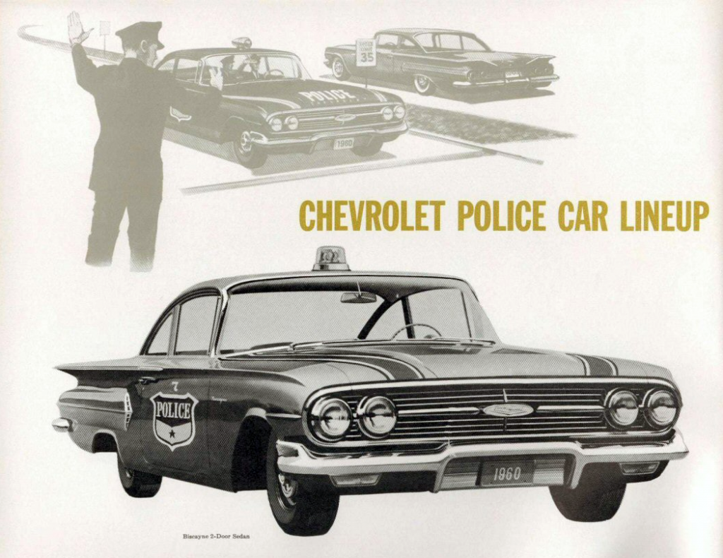 1960 Chevrolet Police Vehicle Brochure