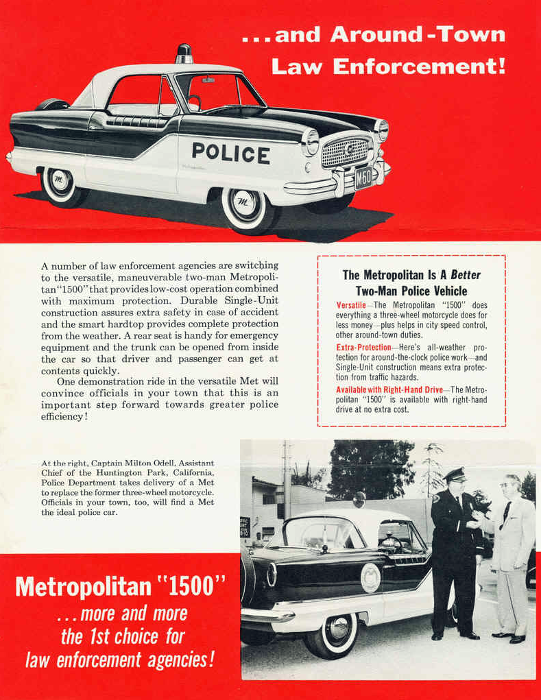 1960 Nash Police Vehicle Brochure