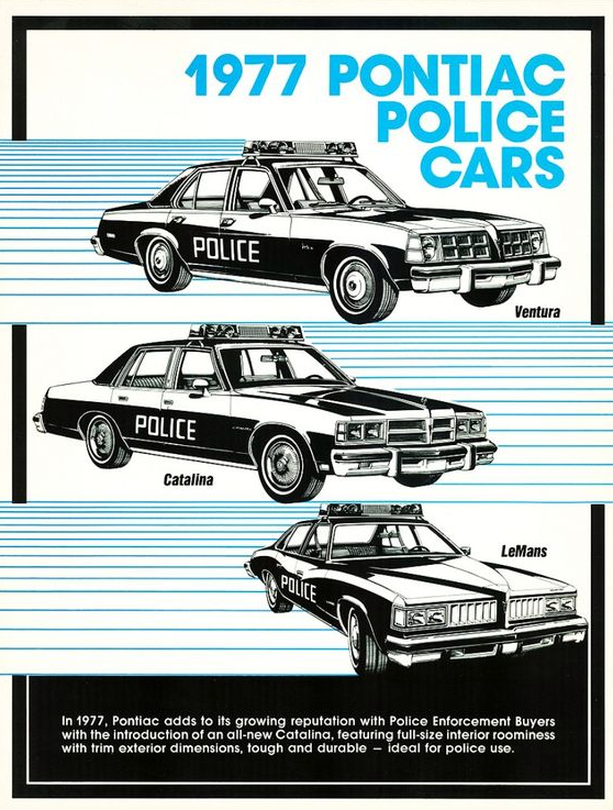 1977 Pontiac Police Vehicle Brochure
