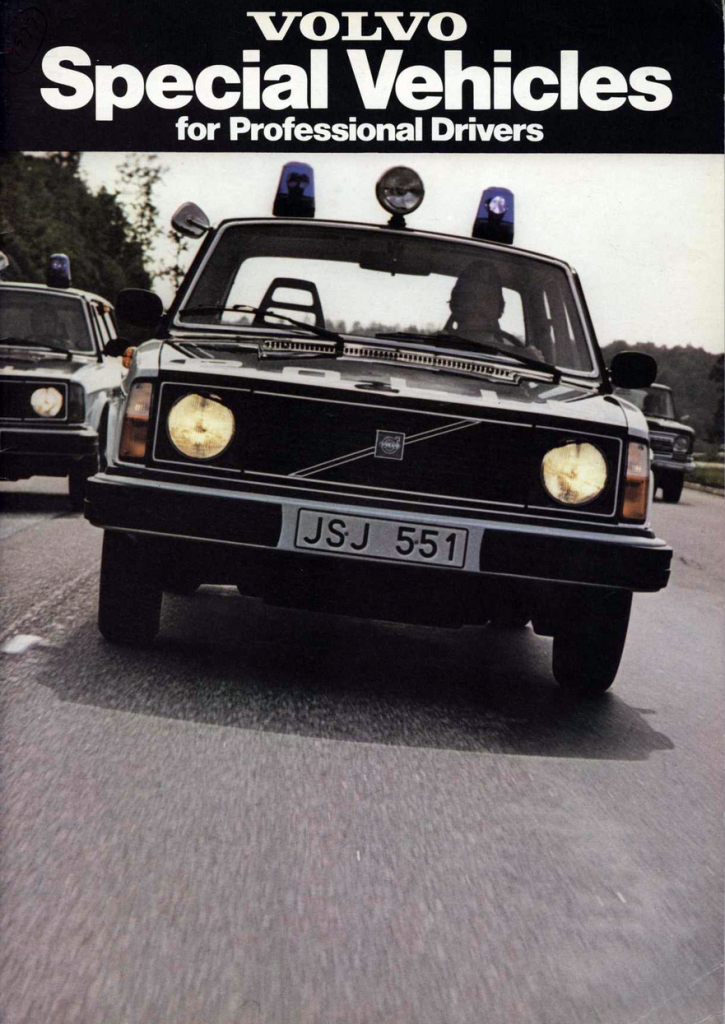 1978 Volvo Police Vehicle Brochure