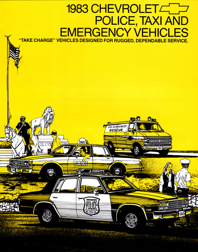 1983 Chevrolet Police Vehicle Brochure