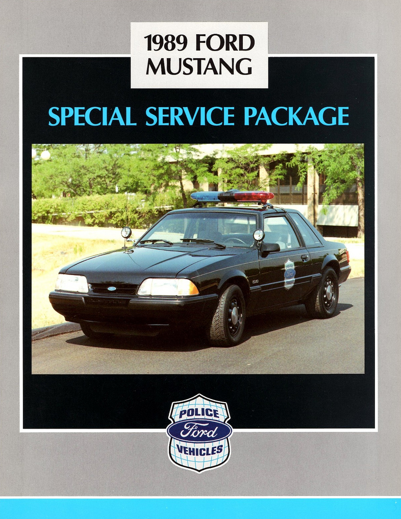 1989 Ford Mustang Police Brochure