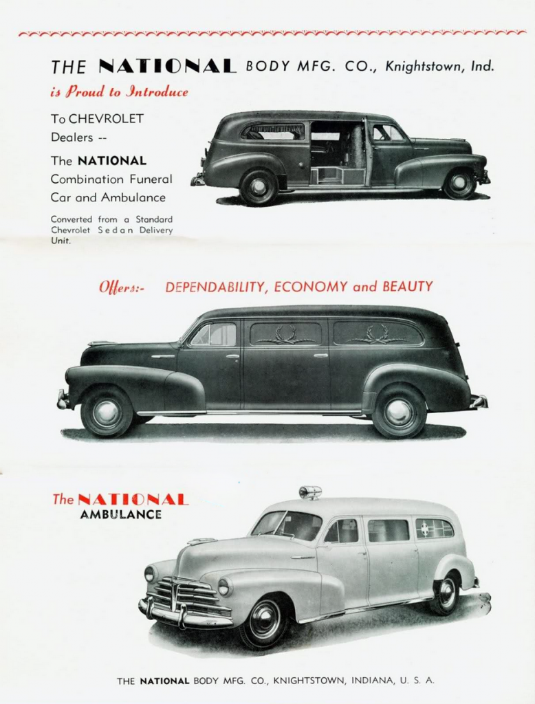 Urgent Care Madness 15 Classic Ambulance Ads The Daily Drive 1951 Chevrolet Sedan Delivery 1946 By National Body