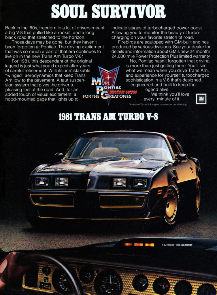 New Trans Am >> Model-Year Madness! 10 Classic Ads From 1981 | The Daily ...