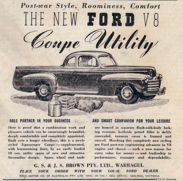 1947 Ford Ute, Coupe Utility