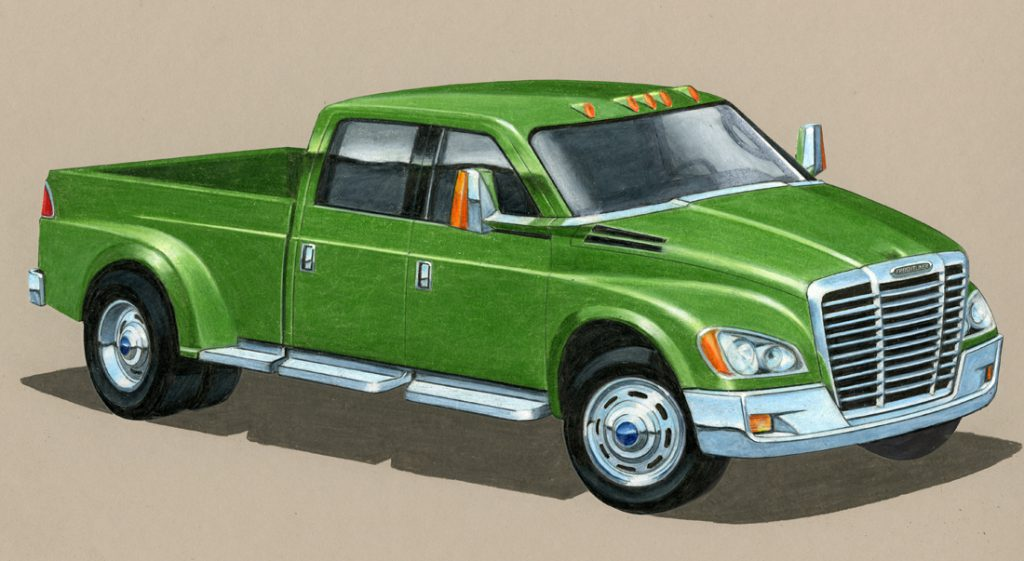 Big Rig Style What If Semi Truck Makers Built Pickups