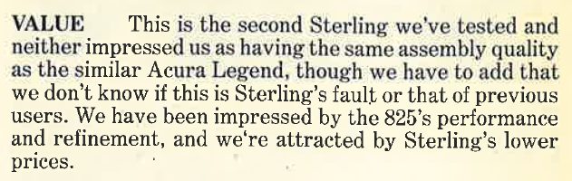 1988 Sterling 825 Review