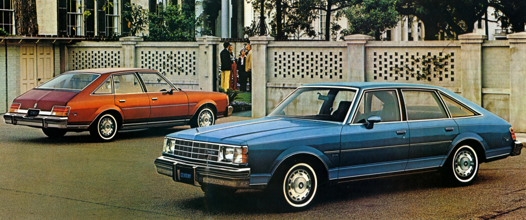 1978 Buick Century Sedan, Century Aeroback, General Motors Aerobacks