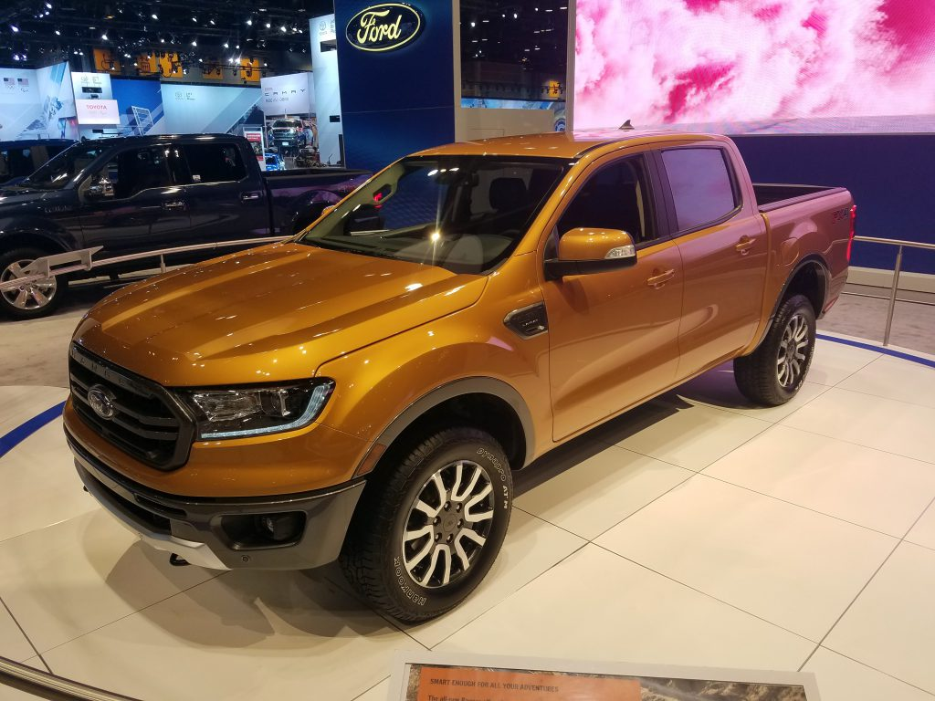 2019 Ford Ranger in Saber Orange