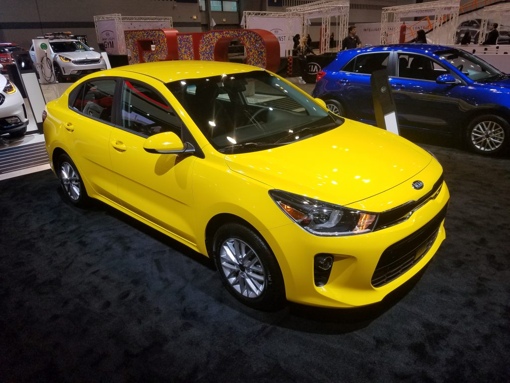 2018 Kia Rio in Sunset Yellow