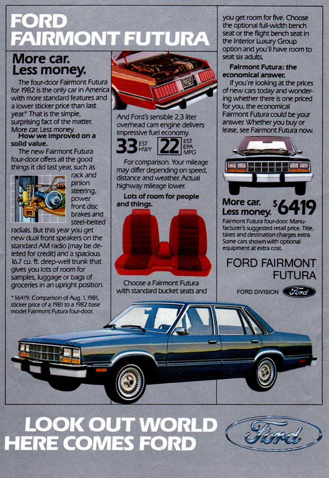 1982 Ford Fairmont Ad