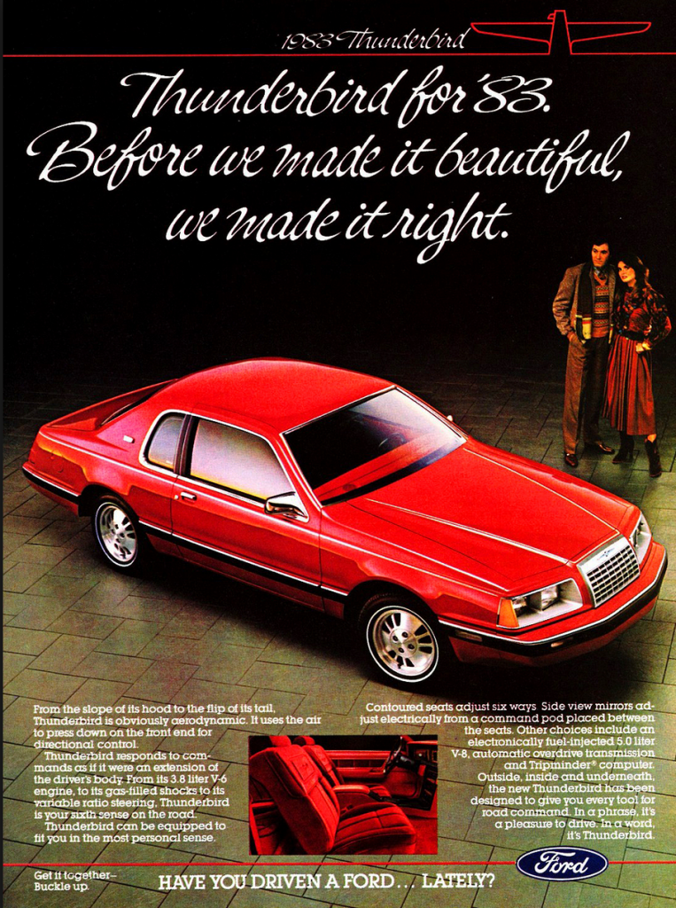 1983 Ford Thunderbird Ad