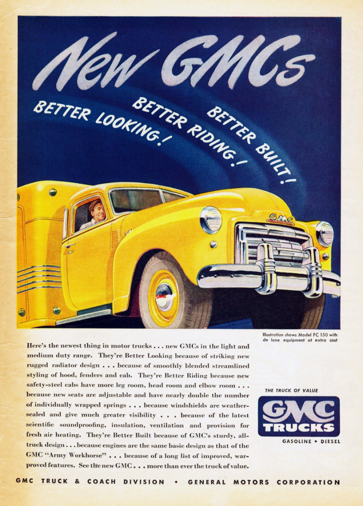 1948 GMC Ad, What does GMC stand for?