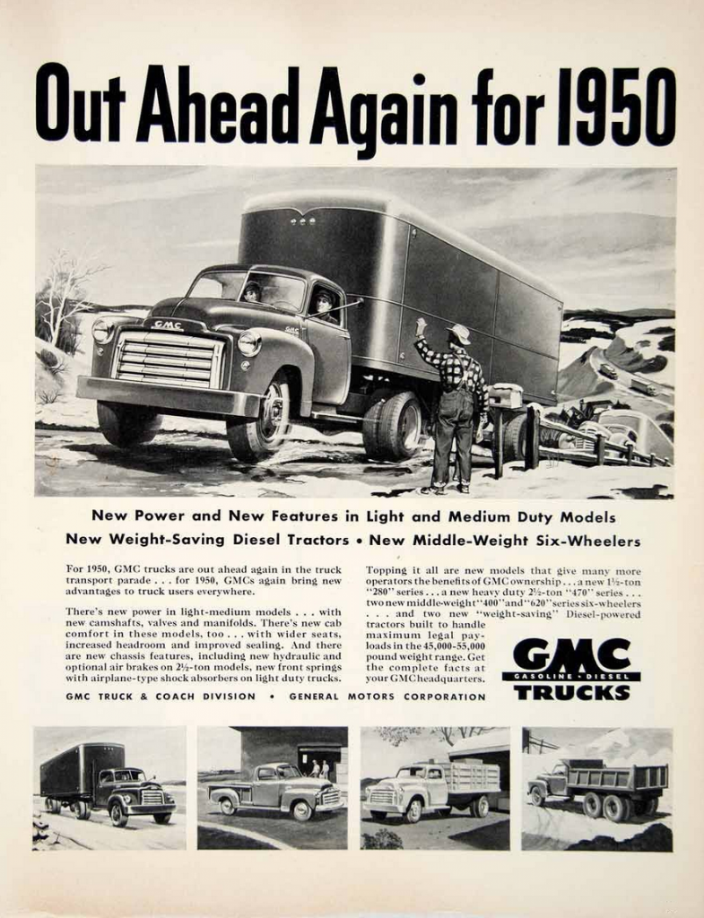 1950 GMC Ad, What does GMC stand for?