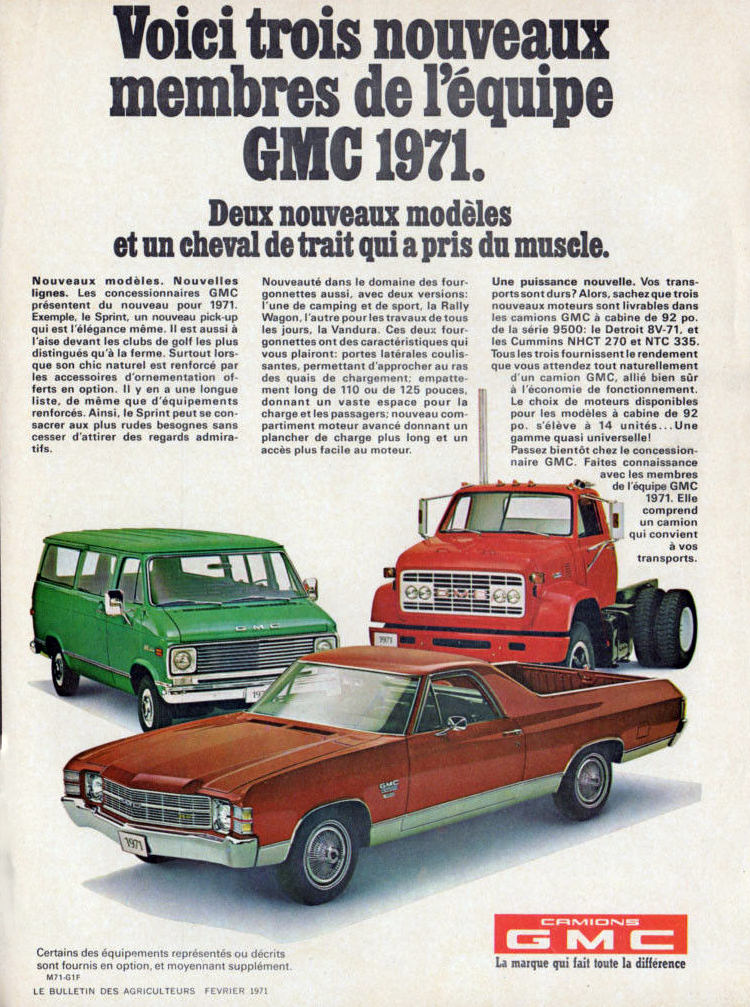 1971 GMC Ad, What does GMC stand for?