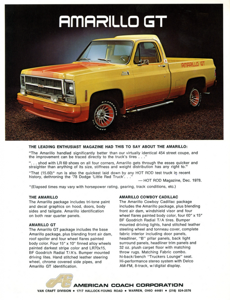 1978 GMC Customization Flyer