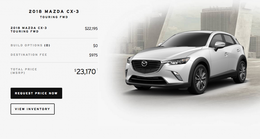 Mazda CX-3 for $300 a month