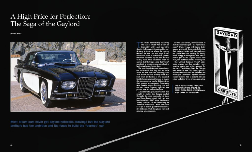 Collectible Automobile Magazine, Gaylord A, Automotive Heritage Awards