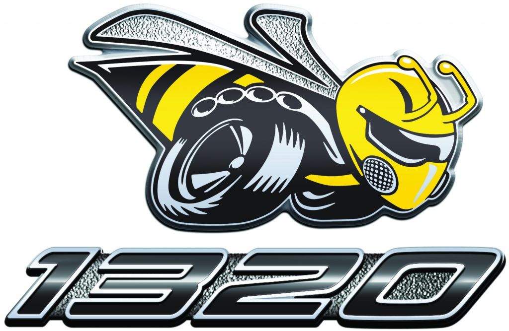 "2019 Dodge Challenger R/T Scat Pack 1320 ""Angry Bee"" fender badge"