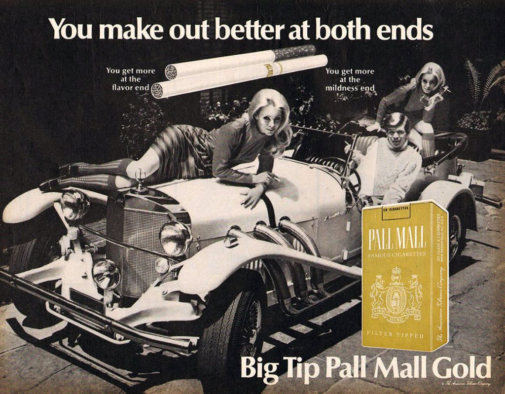 Pall Mall, Cars in Cigarette Ads