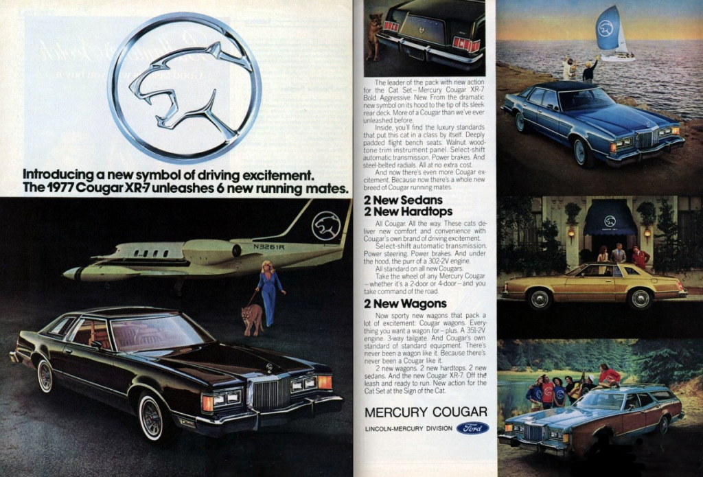 Feline Madness A Gallery Of Mercury Cougar Ads The Daily Drive