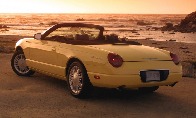 2002 Ford Thunderbird Yellow