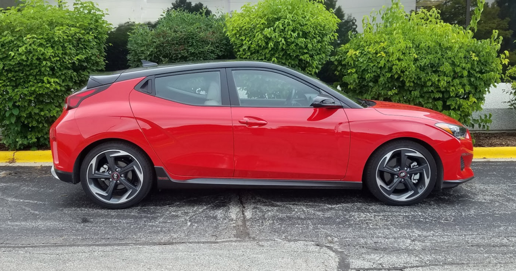 2019 Veloster in Racing Red