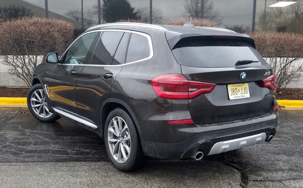 2018 BMW X3 in Dark Olive, a $550 color option