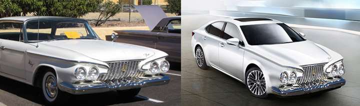 "1961 Plymouth Fury and our ""redesign"" of the 2013 Lexus ES"